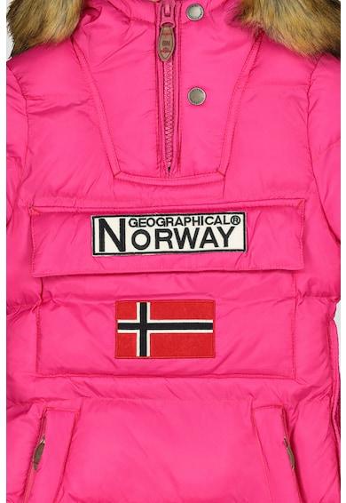 Geographical Norway Geaca fara inchidere, cu gluga Belancolie Fete