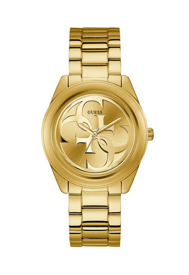 Guess Ceas din otel inoxidabil cu cadran cu logo Femei