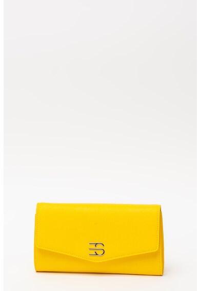 Esprit Geanta plic din piele sintetica saffiano cu monograma metalica Femei