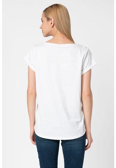 Esprit Tricou din bumbac organic cu imprimeu logo C Femei