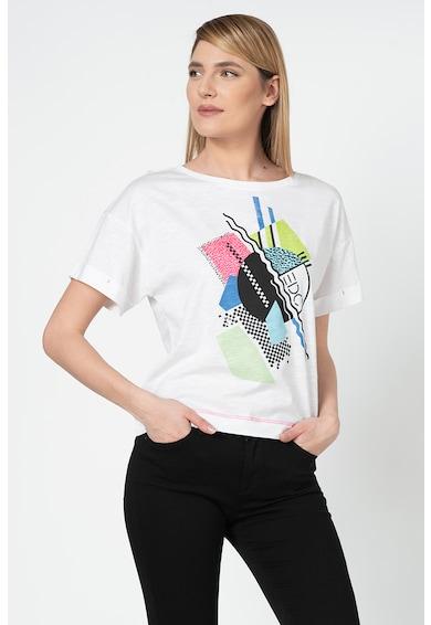 EDC by Esprit Tricou din bumbac organic cu imprimeu logo Femei