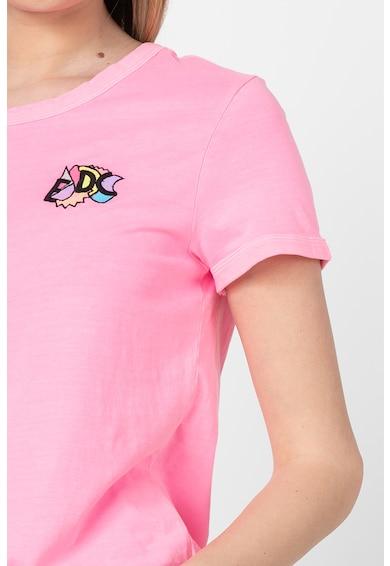 EDC by Esprit Tricou din bumbac organic cu detalii brodate Femei