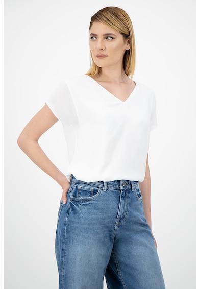 Esprit Bluza din amestec de modal cu decolteu in V Femei