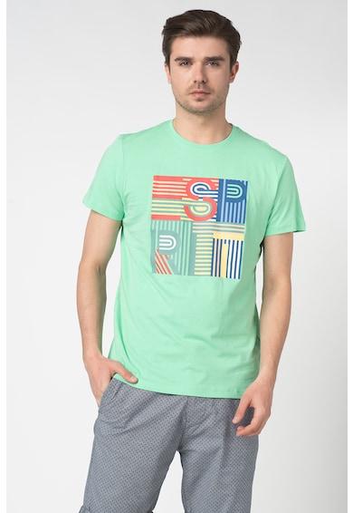 Esprit Tricou din bumbac organic cu imprimeu logo Barbati