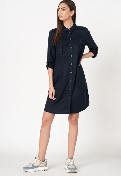 EDC by Esprit Рокля тип риза от лиосел с регулируеми ръкави Жени