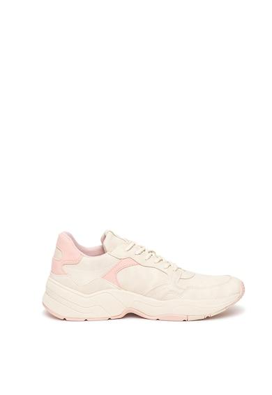 Esprit Pantofi sport wedge de piele ecologica Femei