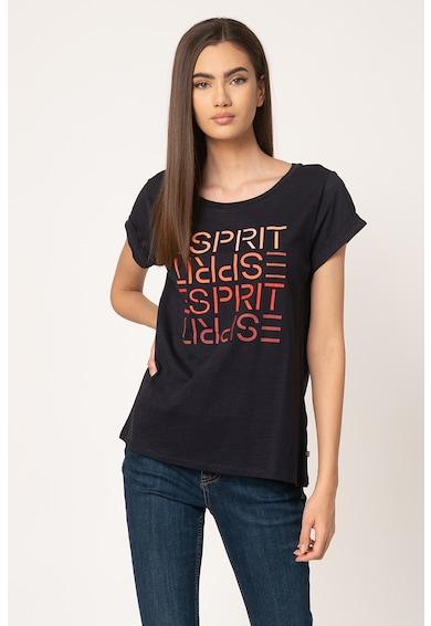 Esprit Tricou din bumbac organic cu imprimeu logo Femei