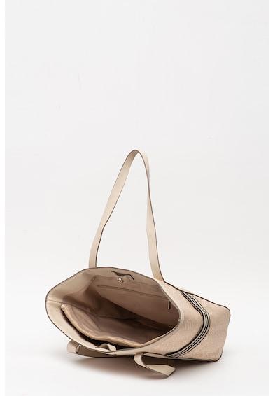 Esprit Geanta shopper de panza cu model monograma si garnituri de piele ecologica Femei