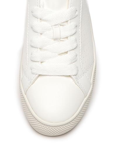 Esprit Pantofi sport flatform de piele ecologica Femei