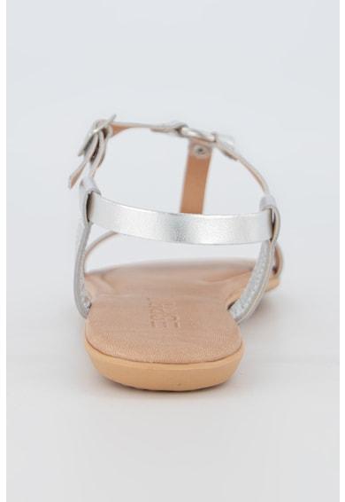 Esprit Sandale de piele cu aspect metalizat Femei