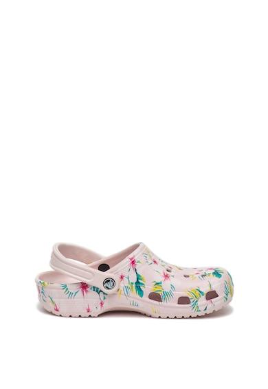 Crocs Saboti slingback convertibili cu model floral Classic Femei