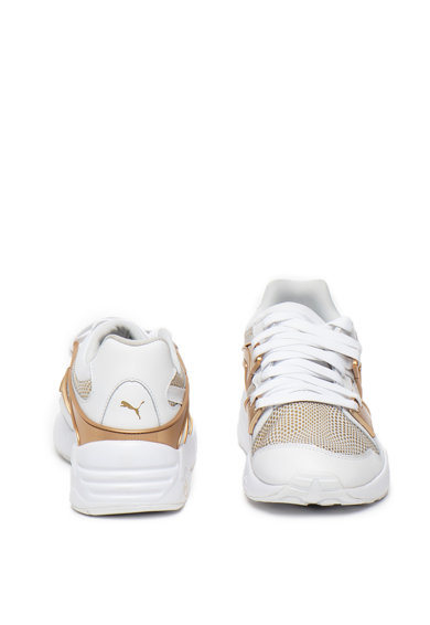 Puma Pantofi sport de piele cu detalii contrastante Blaze Gold Femei