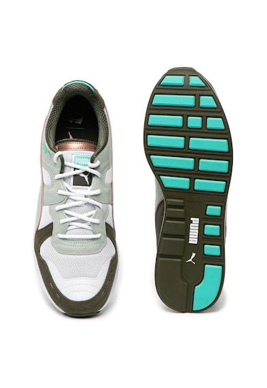 Puma Pantofi sport cu garnituri de piele si piele intoarsa RS-100 x Emory Jones Barbati