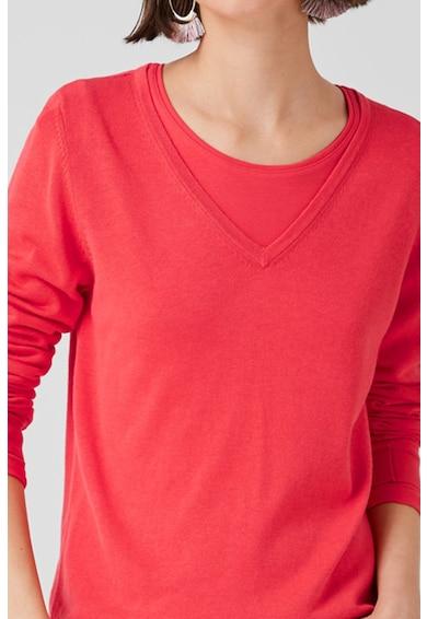 s.Oliver Pulover din tricot fin cu decolteu in V Femei