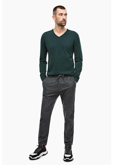 s.Oliver Pulover din tricot fin, cu decolteu in V Barbati