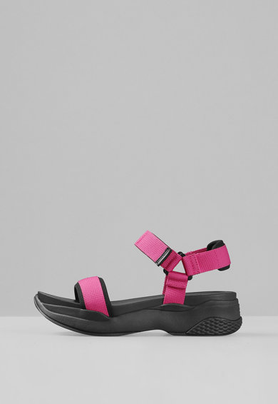 Vagabond Shoemakers Sandale cu talpa plata si velcro Lori Femei