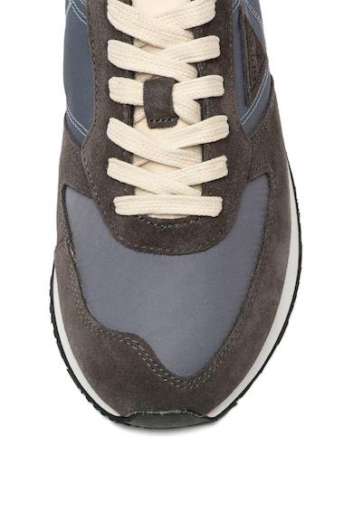 Guess Pantofi sport cu garnituri din piele intoarsa Barbati