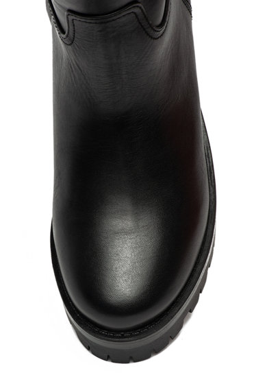 Love Moschino Cizme din piele cu aplicatie logo metalica Femei