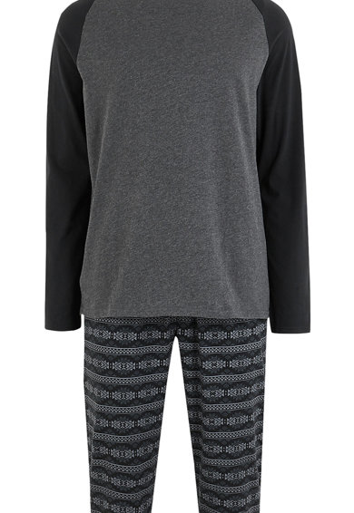 Marks & Spencer Pijama cu imprimeu grafic Barbati
