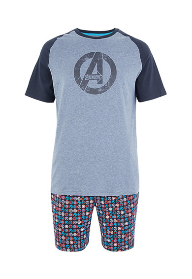 Marks & Spencer Pijama cu imprimeu tematic Marvel Avengers™ Barbati