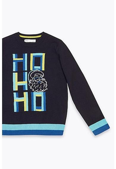 Marks & Spencer Pulover din tricot fin cu tematica de Craciun Baieti
