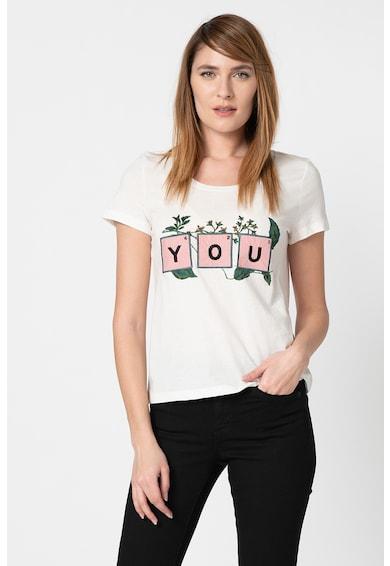 Vero Moda Tricou din bumbac organic cu aplicatie frontala Tovediana Femei