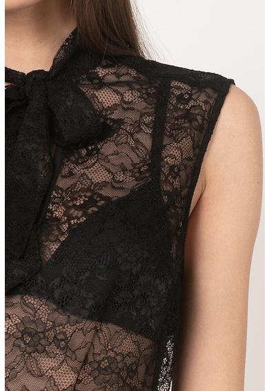 GUESS BY MARCIANO Дантелена блуза без ръкави с панделка Жени