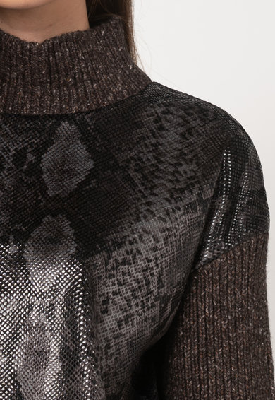 GUESS BY MARCIANO Pulover cu segmente cu model de piele de sarpe Femei
