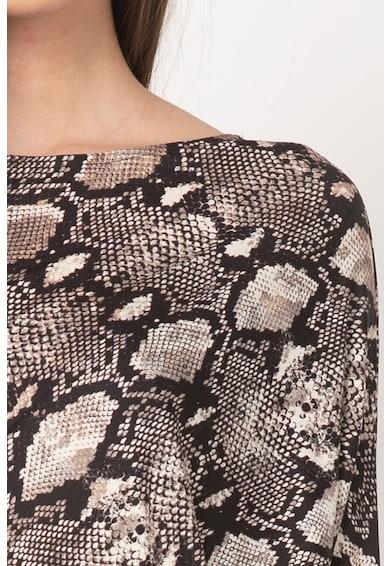 GUESS BY MARCIANO Rochie cambrata cu model de piele de reptila Femei