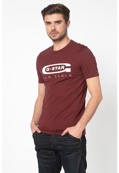 G-Star Raw Tricou slim fit cu imprimeu logo si decolteu la baza gatului Barbati