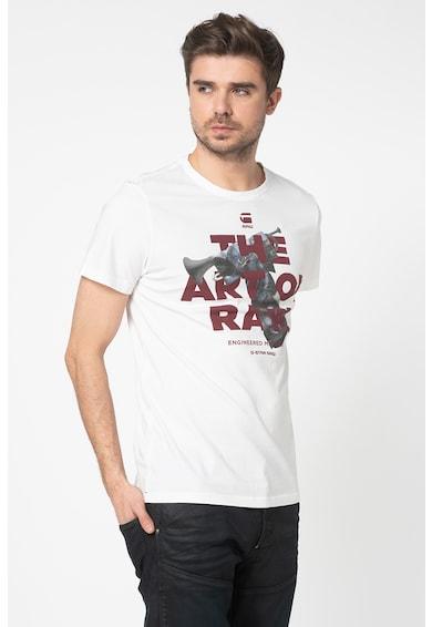 G-Star Raw Tricou cu imprimeu grafic si decolteu la baza gatului Barbati