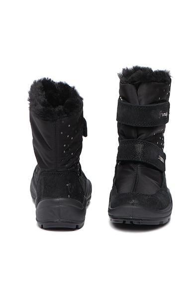Primigi Cizme de iarna cu garnituri de piele intoarsa si aplicatii din paiete Fete