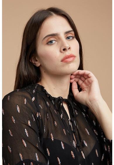 Fiorella Rubino Bluza transparenta cu insertii de lurex Femei