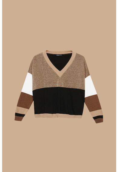 Fiorella Rubino Pulover din amestec de lana si casmir, cu model colorblock Femei