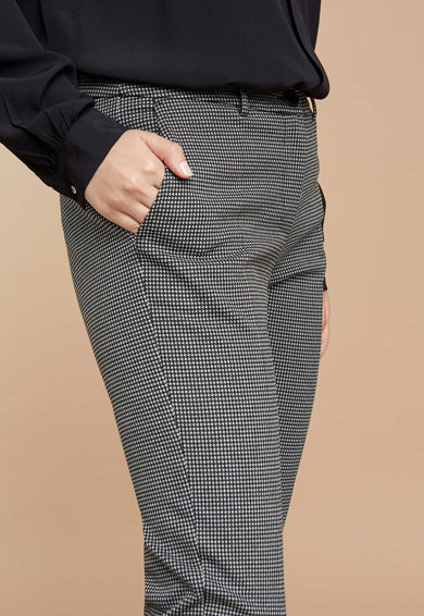 Fiorella Rubino Pantaloni cu imprimeu si pense Femei