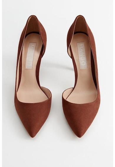 Mango Обувки Audrey d'Orsay с кадифен ефект Жени