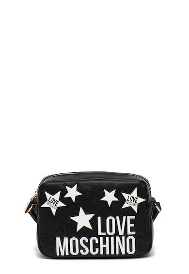 Love Moschino Geanta crossbody de piele ecologica, cu aplicatii cu stele Femei