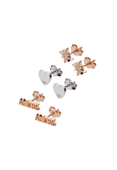 Emporio Armani Set de cercei cu tija din argint - 3 perechi Femei