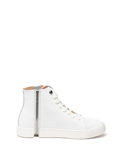 Diesel Pantofi sport mid-high de piele, cu fermoar decorativ Nentish Femei