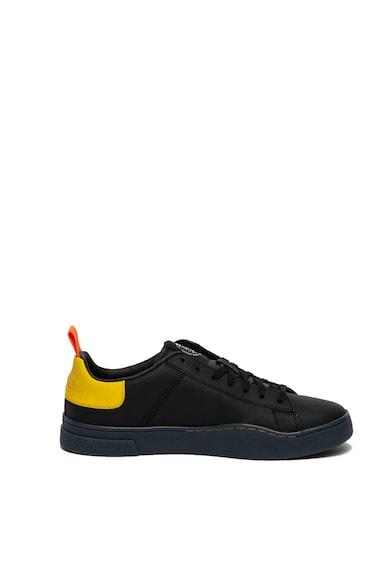 Diesel Pantofi sport de piele, cu insertii contrastante Clever Barbati