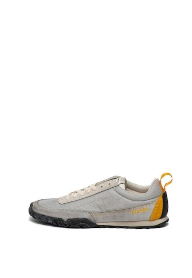 Diesel Pantofi sport cu insertii de piele intoarsa Pagodha Barbati