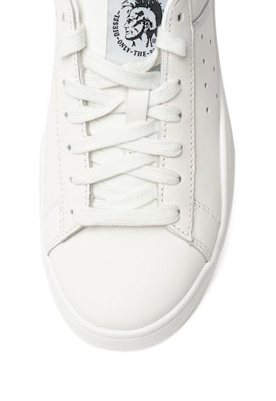 Diesel Pantofi sport de piele, cu garnitura catifelata pe partea din spate Clever Femei