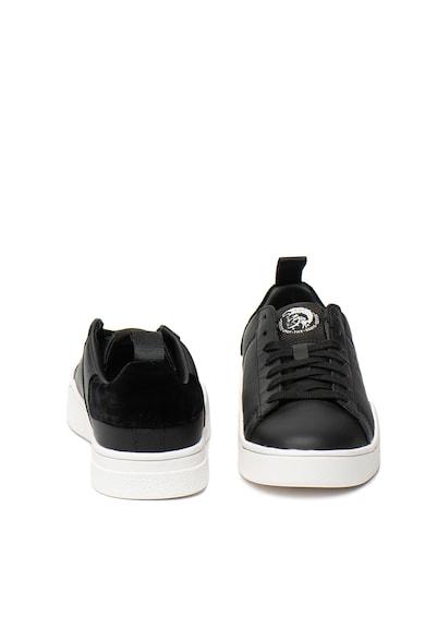 Diesel Pantofi sport de piele, cu garnituri catifelate Clever Femei