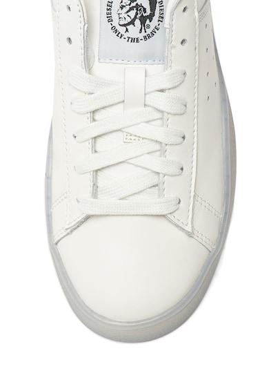 Diesel Pantofi sport de piele, cu cusaturi contrastante Clever Femei