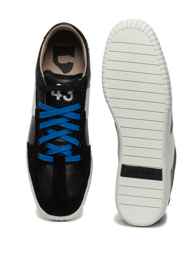 Diesel Pantofi sport de piele si piele intoarsa Milenium Barbati