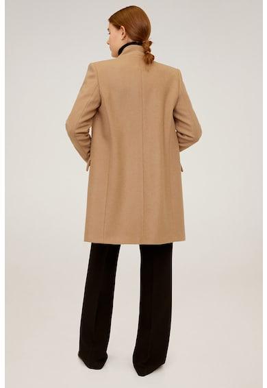 Mango Palton din amestec de lana Streep Femei