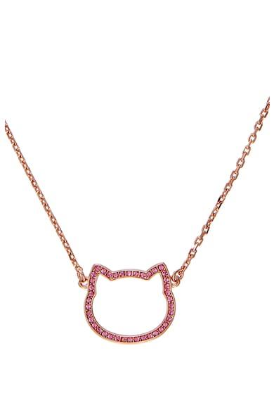 Karl Lagerfeld Colier placat cu aur rose de 12k, decorat cu pandantiv cu decoratiuni Femei