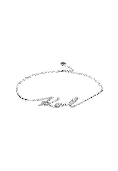 Karl Lagerfeld Colier tip choker cu detaliu logo Femei