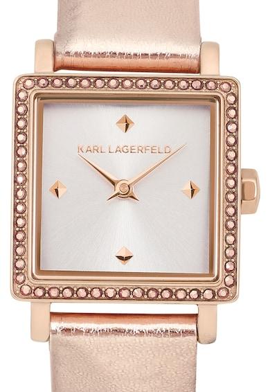 Karl Lagerfeld Ceas analog decorat cu cristale Swarovski Femei