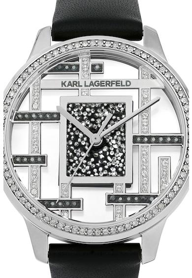 Karl Lagerfeld Ceas rotund decorat cu cristale Swarovski Femei